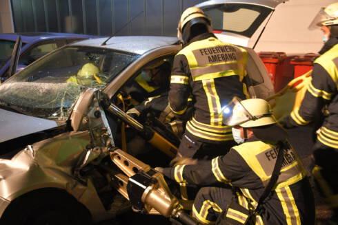 Verkehrsunfall-Übung am 06.10.2020